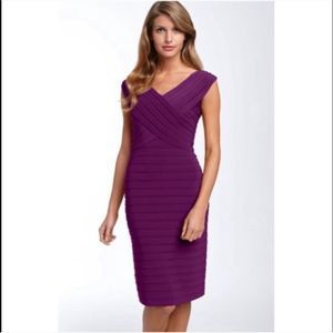Adrianna Papell Purple Bandage Bodycon Dress